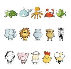 animalitos animadas tiernas - Buscar con Google