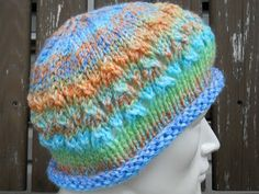 Knitting with Schnapps: Meagan's Rainbow  beautiful hat pattern and great story to go along with it!