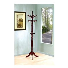 Super Deluxe Solid Wood Sturdy Heavy Duty Coat Hat Hanger Hall Tree