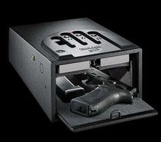 The GunVault GVB1000 Gun Safe Keeps Your Arms Secured #topbabytrends #trendykids trendhunter.com