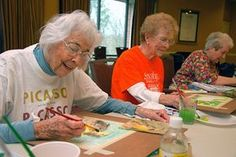 Activities that stimulate memory for seniors and children.