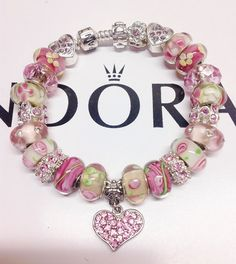 Pandora Charm Bracelet Authentic pandora Hearts and by eurodazzle, $170.00