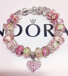 Pandora Charm Bracelet Authentic pandora Hearts and by eurodazzle, $170.00