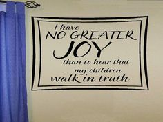 vinyl wall decal quote  No greater joy   por WallDecalsAndQuotes