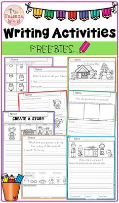 , Free Writing Activities , This resource contains 8 pages of writing worksheets. This product is suitable for kindergarten through second grade students. Students are encouraged. Narrative Writing Prompts, Writing Lessons, Teaching Writing, Writing Skills, Narrative Writing Kindergarten, 1st Grade Writing Prompts, 1st Grade Writing Worksheets, Kindergarten Writing Activities, Writing Sentences