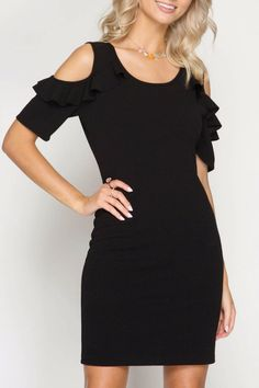 7fec0f85a2ca2 Elegant and sophisticated this body hugging little black dress is perfect  for any occasion. Fabric. Shoptiques