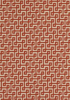 CIRCUIT, Tomato Red on Almond, W74331, Collection Woven 3: Geometrics from Thibaut