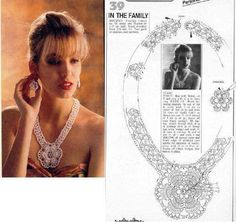 kolye yapımı...Flower medallion necklace with diagrams!!