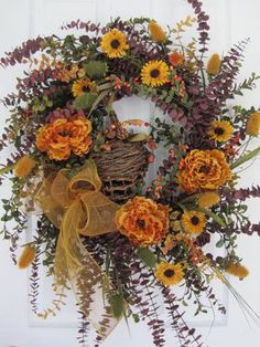 .autumn w/wicker wreath