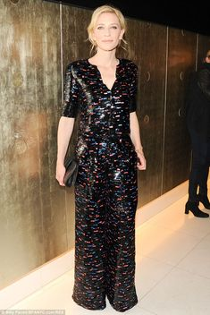 Cate Blanchett dazzles in jumpsuit at Giorgio Armani's pre-Oscars party | Mail Online