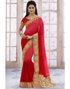 Scenic Shaded Red #Saree