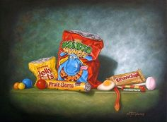 Nigel Humphries Gallery 2: Oil paintings of sweets and toys - Nigel Humphries Artist