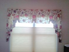 "This is a cascading valance (notice the sides) over a ""top-down / bottom-up"" cellular shade. For a home in Monclova, Ohio. Window Styles, Home Decor, Roman Shade Curtain, Curtains, Custom Drapery, First Home, Drapery Fabric, Valance, Cellular Shades"