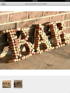 Kitchen Art- wine corks