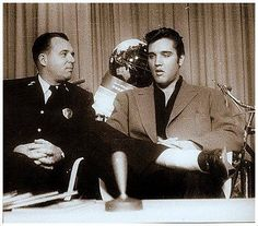 September 20, 1957 - Elvis appeared on Memphis television station WKNO to promote traffic safety and driver education.