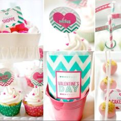 Absolutely adorable chevron and ombré theme party by Hostess with the Mostess