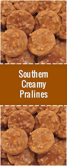 Southern Creamy Pralines Ingredients This is a very old family recipe 3 cups sugar 1 cup whole fat buttermilk cup light c. Pecan Recipes, Sweets Recipes, Candy Recipes, Chocolate Recipes, Holiday Recipes, Family Recipes, Desserts, Chocolate Cookies, Cookie Recipes