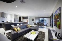 Open plan living area #Interiordesign by #SmartHomesForLiving