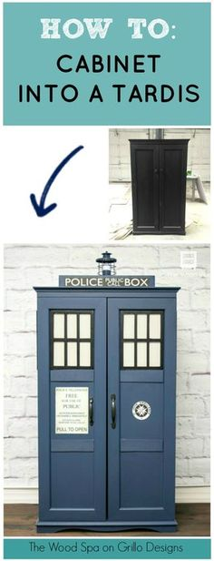 Patricia Rios Calvao from the Wood Spa shares how she transforms an ordinary cabinet into a min-Tardis. If you are a Dr Who fan, you will love this!