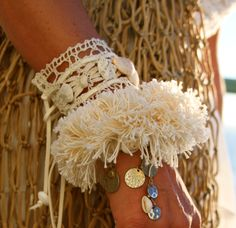 """""""Maiden Gypsy"""" Shaggy Shell Wrap with our """"Cherokee Lace"""" Wrap from our Romance Collection"""
