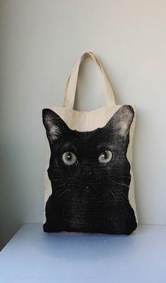 Black Cat tote bag (looks like a combination of my 2 black kitties).