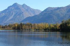 Mountains by the Lake by LadySnowAngel Photography