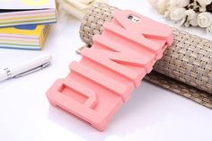Fashion 3D PINK Letter Secret Soft Silicone Case for iPhone SE 5S 6 6S Plus Mobile Phone Back Covers For iphone7 7 plus Victoria -0316