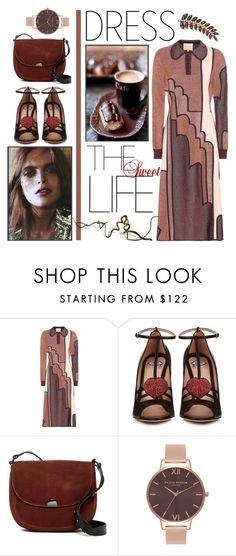 """Sweet disco"" by edita1 ❤ liked on Polyvore featuring Roksanda, Gucci, Sorial, Olivia Burton, Bee Goddess and metallicdress"
