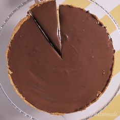 Like a peanut butter cup in pie form.                                                                                                                                                                                 More
