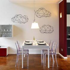 Un ensemble de 3 stickers muraux nuages au design géométrique pour réaliser un décor contemporain original. Origami, Stickers Design, Masking Tape, House Design, Home Decor, Wall Decals, Contemporary Home Decor, Clouds, Crafts