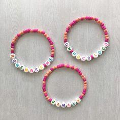 Word Bracelets, Seed Bead Bracelets, Seed Beads, Letter Beads, Black Letter, Bracelet Making, Notes, Bright, Lettering