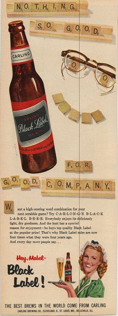 Black Label Beer Ad | by slade1955