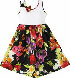 Girls Dress Black Purple Flower Party School Size 9-10 Kids Clothes Sunny Fashion,http://www.amazon.com/dp/B009TGTCIW/ref=cm_sw_r_pi_dp_rtQMsb19A48K5623