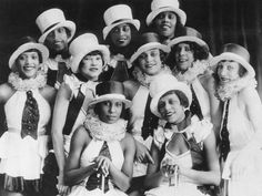 Chorus girls of the musical revue Chocolate Kiddies at the Admiralspalast in Berlin, Germany 1925