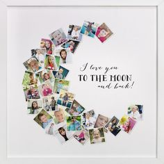 """""""Love You To The Moon & Back!"""" by Chasity Smith in beautiful frame options and a variety of sizes. #ChristmasDIYgifts"""