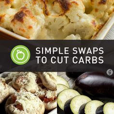 Simple Swaps for Lower Carbs. #realmeals #RMR #timnoakes #lchf #banting