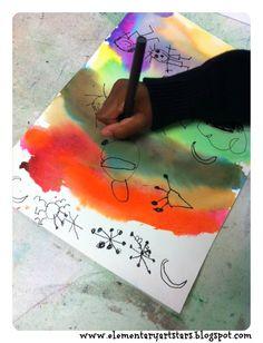 Art Stars: Kindergarten: Joan Miro Abstract Paintings