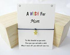 Gift for mom. Mom Gift Wish Bracelet Friendship Bracelet Wishing Bracelet Charm Bracelet Mom Birthday Gift Mothers day gift Stocking filler