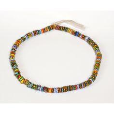 "Perles africaine ""plateau"" recyclées multicolores"