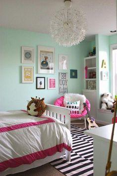 21 Cute Bedroom Ideas Girls 7 with beautiful wall decor - Bedroom Design Ideas - Preteen Girls Rooms, Preteen Bedroom, Small Room Bedroom, Teen Girl Bedrooms, Cozy Bedroom, Bedroom Decor, Wall Decor, Tween Girls, Bedroom Furniture