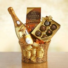 Cristal Champagne Chocolate Gift Basket - California Delicious. Sender and recipient will receive NakedWines $50 gift card with purchase.