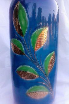 Bitossi Rosenthal Netter Italian Art Pottery Vase Blue McCobb Londi Raymor Bagni