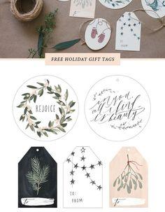 Inspiration für Weihnachten: Geschenke einpacken. DIY, selbermachen.Geschenkpapier. Free Gift Tags. Download kostenlos.