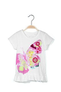 cotton-jersey artwork T-shirt