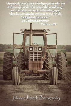 So God Made a Farmer,Paul Harvey 1978. Antique International Harvester Tractor, Spring planting. Vintage Edit Johnson Branch Photography www.titanoutletstore.com
