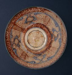 Lustre Bowl with Cobalt-Blue Highlights - ADC.136 Origin: Central Asia Circa: 11 th Century AD to 13 th Century AD