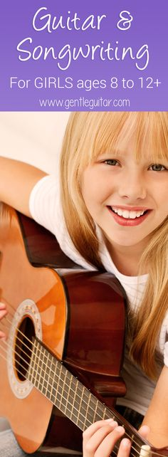Do you have a pre-teen or teen girl who sings and dances around the house? At Gentle Guitar we have a songwriting and guitar program just for girls! Try a free demo lesson, visit: http://gentleguitar.com/curriculum