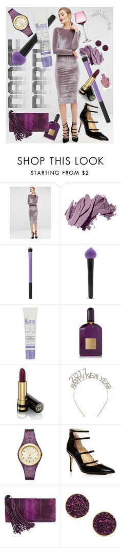 """""""Orchid Opulent"""" by rachael-aislynn ❤ liked on Polyvore featuring ASOS, Bobbi Brown Cosmetics, Forever 21, L'Oréal Paris, Tom Ford, Gucci, Betty Jackson, Kate Spade, Ivanka Trump and H&M"""