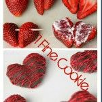 Chocolate Covered Strawberry Hearts filled with Marshmallow by 1 Fine Cookie Only post with link to original source!