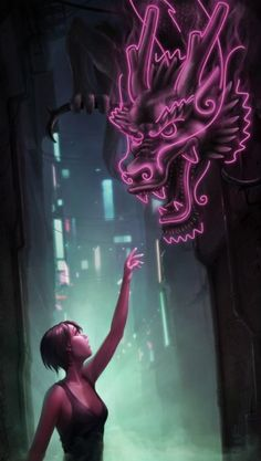 [2012 JUN Urban - Neon Dragon by Nigel Quarless]